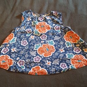 Floral flare Tank Top Size small